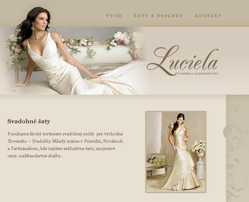 Luciela.sk - internetový predaj svadobných a spoločenských šiat