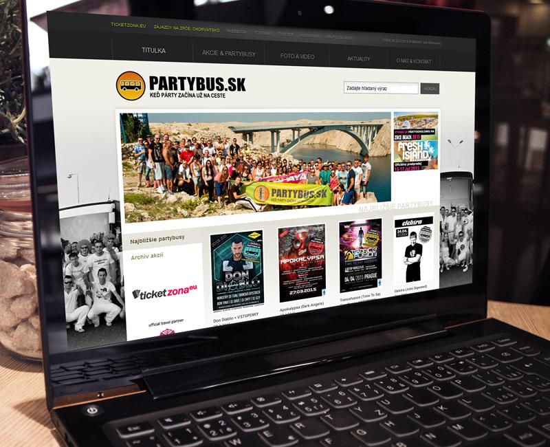 partybus.sk - Eventový a zájazdový web
