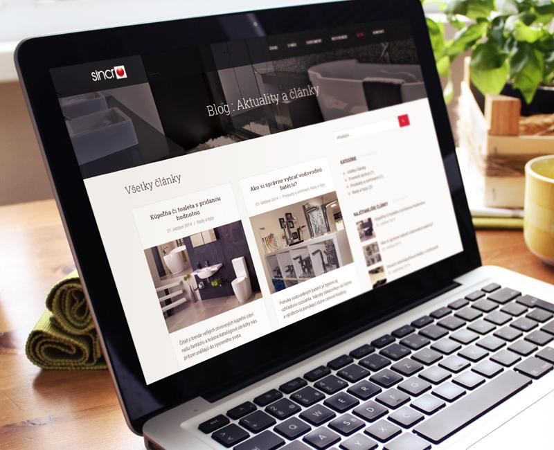 sincro.sk - firemný web kúpeľňového štúdia