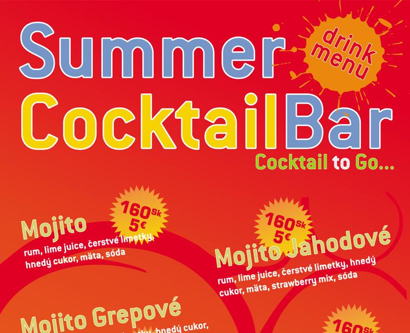 Nápojový lístok Summer Cocktail Bar