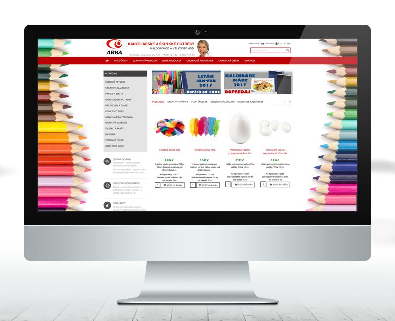 arka.sk - e-shop najväčšieho dodávateľa papierníckych potrieb na Slovensku.