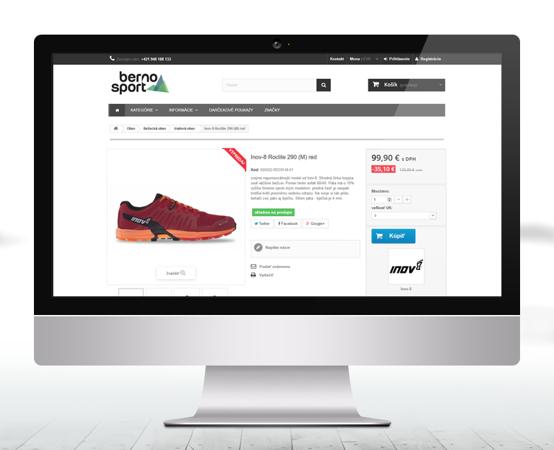 bernosport.sk - e-shop predajcu outdoorového oblečenia a príslušenstva.