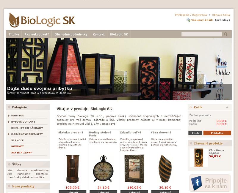 E-shop BioLogic.sk