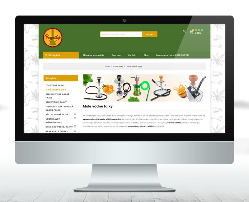 bongoshop.sk - Inovácia e-shopu pre predaj fajčiarských potrieb