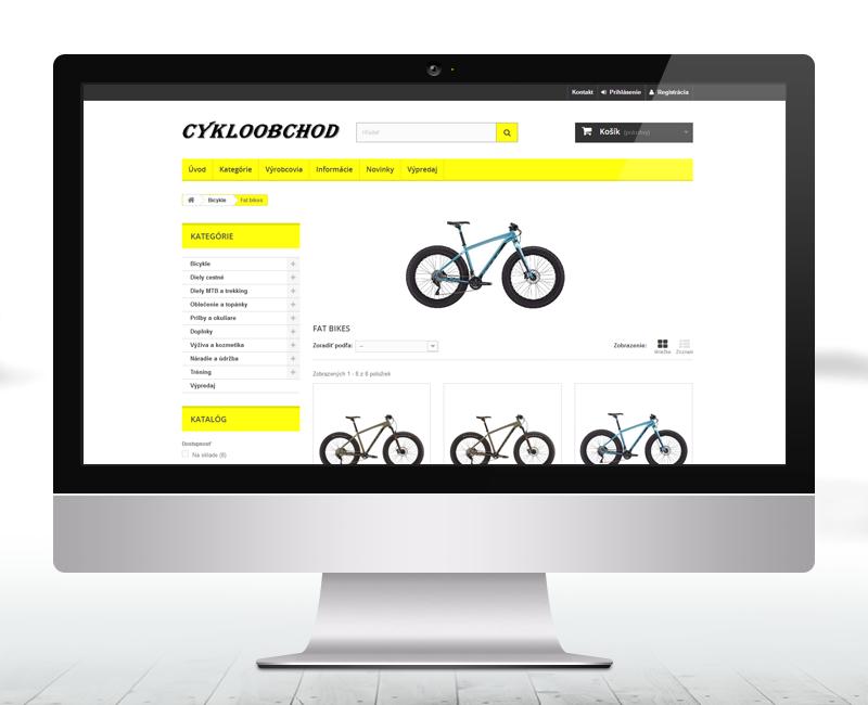 cykloobchod.sk - e-shop predajcu bicyklov a tovaru pre cyklistov.