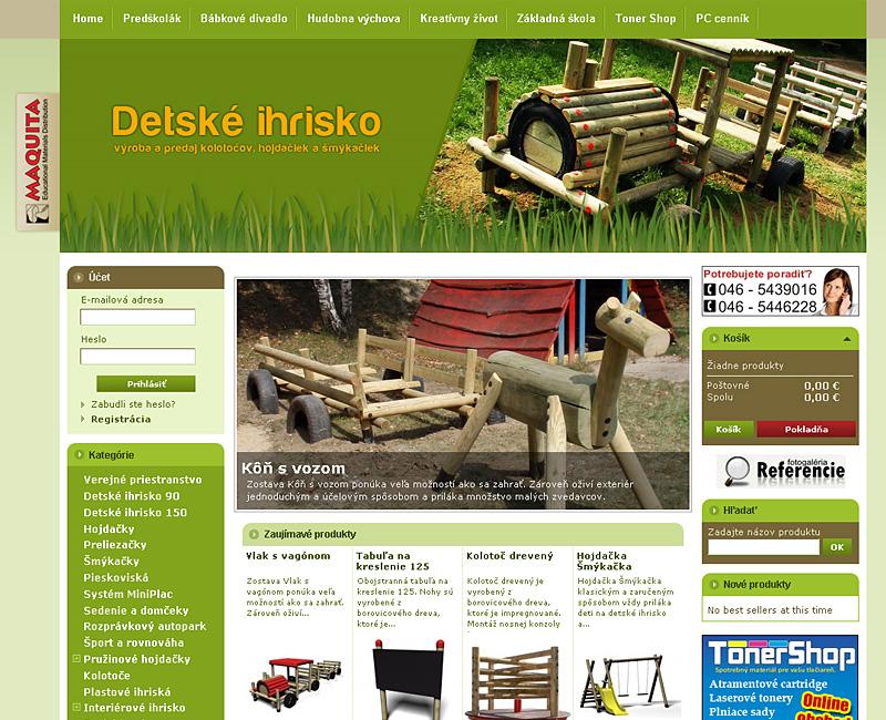 detskeihrisko.eu - e-shop výrobcu zariadení pre detské ihriská