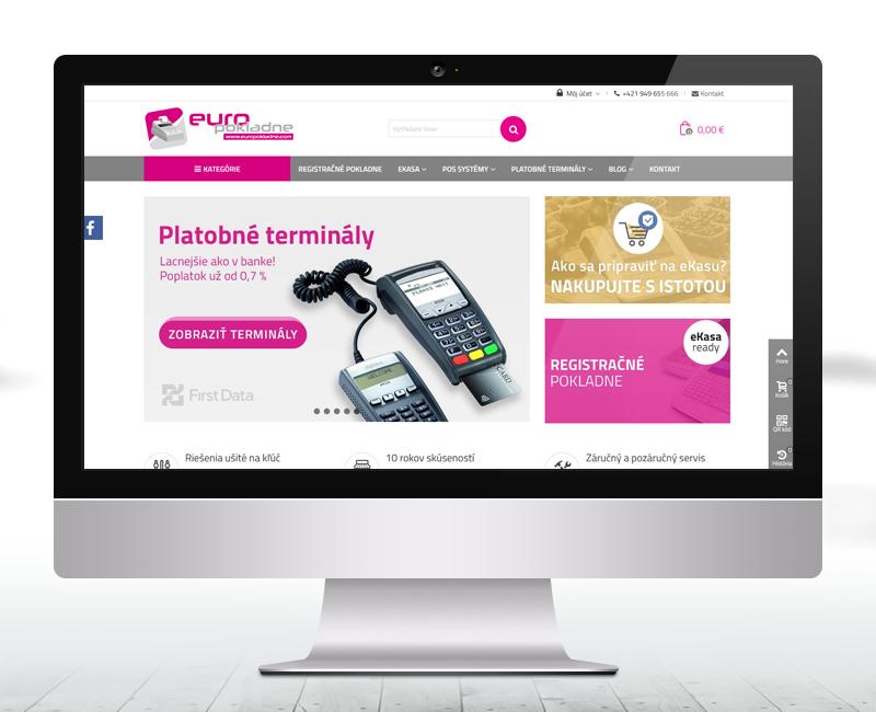 europokladne.com - e-shopu pre predaj registračných pokladní a platobných terminálov