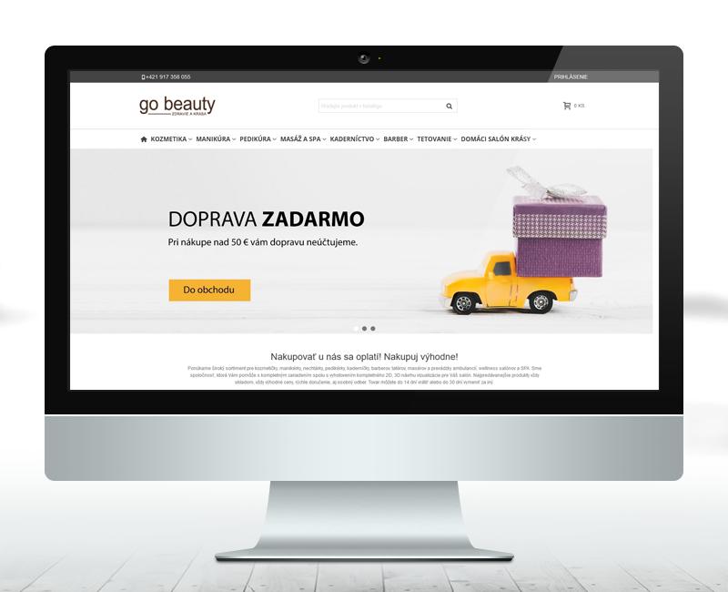 gobeauty.sk - Návrh a tvorba e-shopu