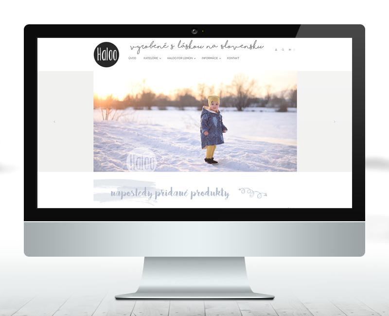 halooshop.sk - e-shop výrobcu štýlového detského oblečenia.