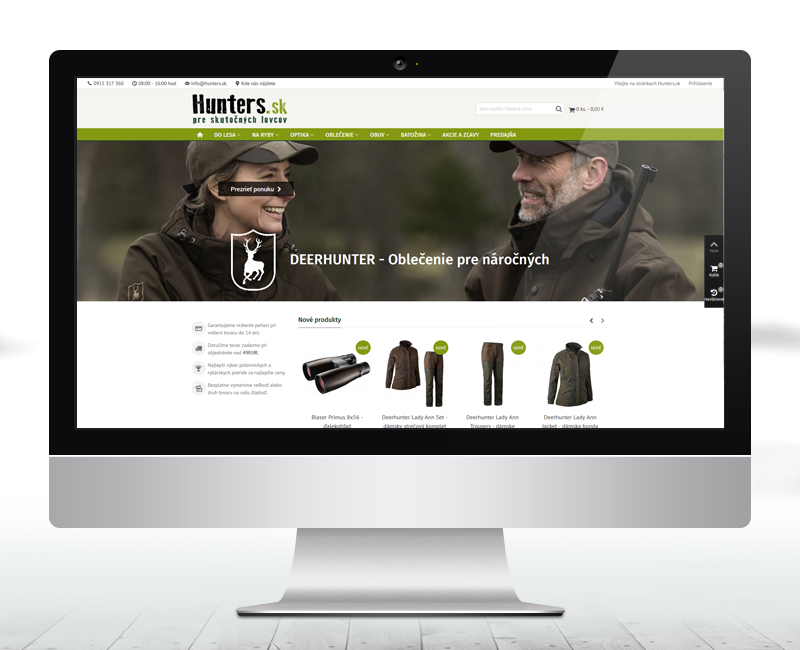 hunters.sk - e-shop predajcu poľovníckych a rybárskych potrieb.