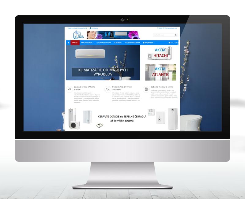 klimaobchod.sk - e-shop predajcu klimatizácií, tepelných čerpadiel a vzduchotechniky.