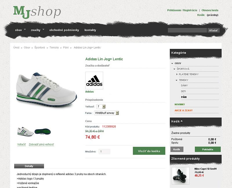 MJshop.sk - e-shop pre predaj obuvi pre mladých