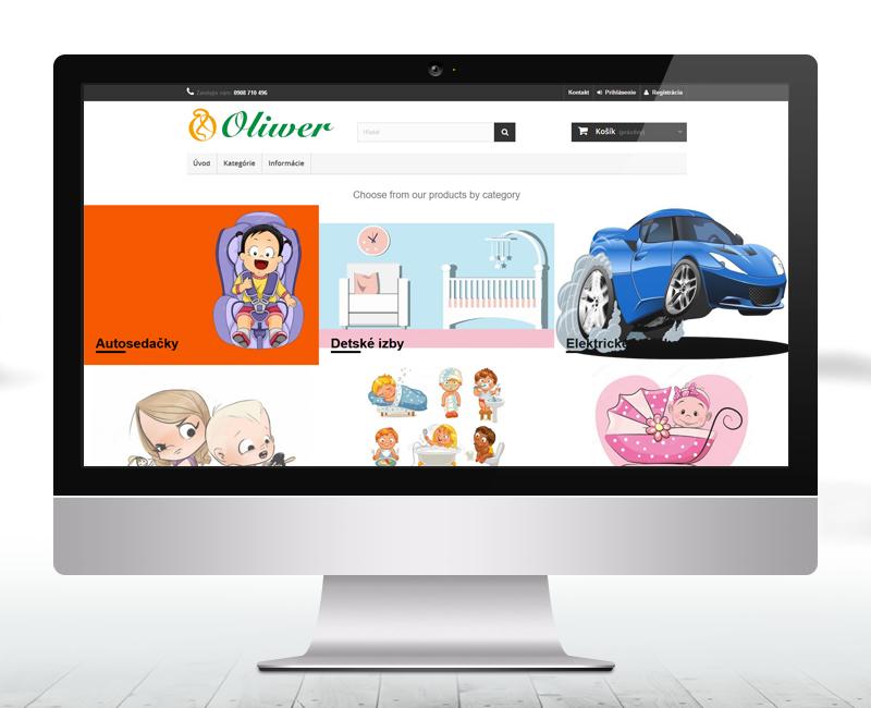 oliwer.sk - e-shop predajcu tovaru zameraného pre malé deti.