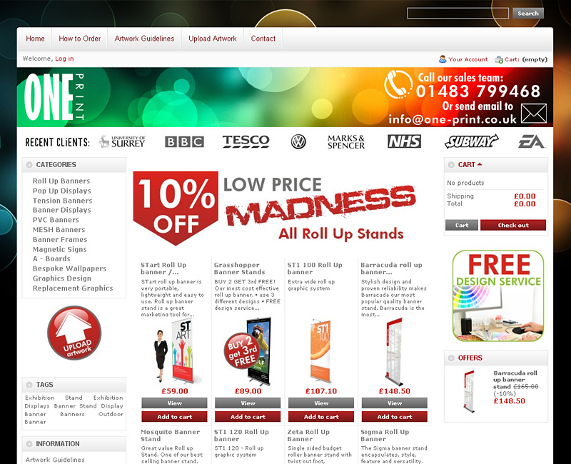 E-shop One-Print.co.uk
