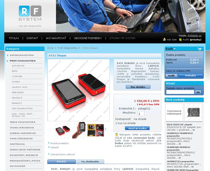 shop.rfsystem.sk - Autodiagnostika pre automobily