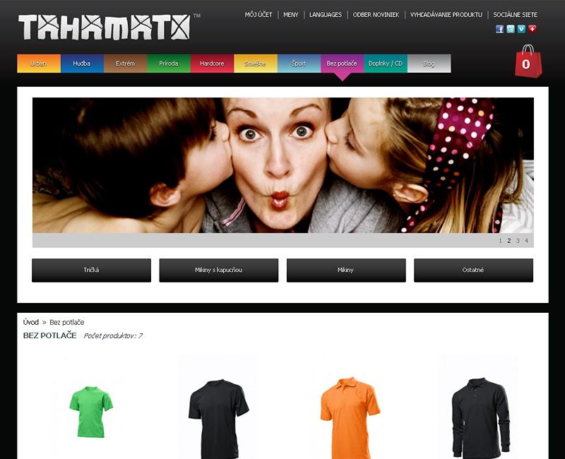 tahamato.com - e-shop pre predaj oblečenia