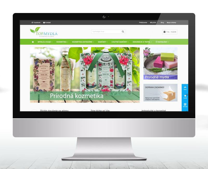 topmydla.sk - e-shop pre predaj ručne vyrábaných prírodných mydiel, telových olejov a prípravkov do kúpeľa
