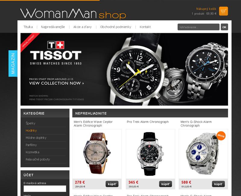 shop.WomanMan.sk - e-shop pre predaj značkových hodniek