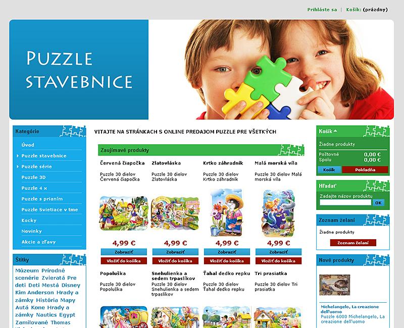 puzzle-predaj.sk - e-shop pre predaj puzzle skladačiek