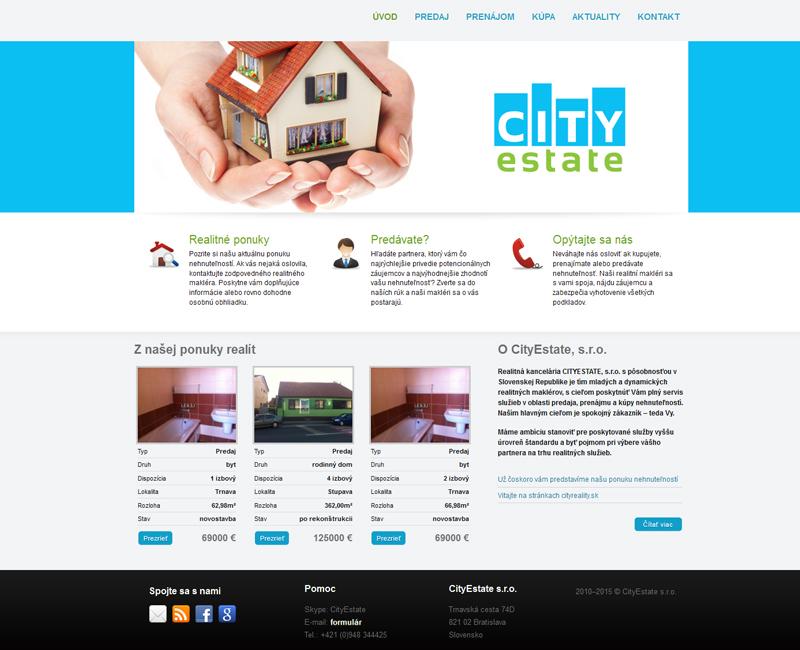 cityestate.sk - web realitnej kancelárie