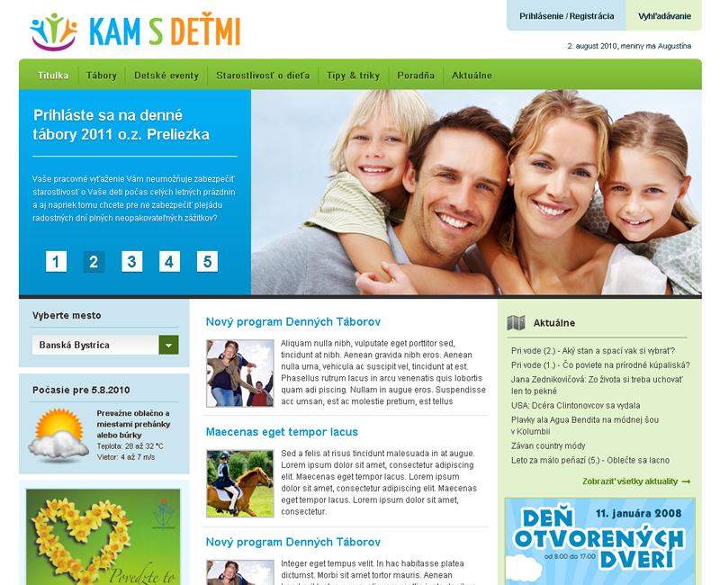 KamsDetmi.sk - Informačný servis pre rodiny s deťmi