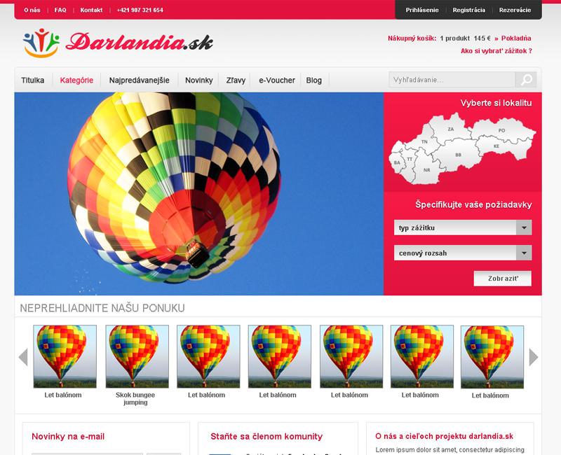 darlandia.sk - predaj zážitkov